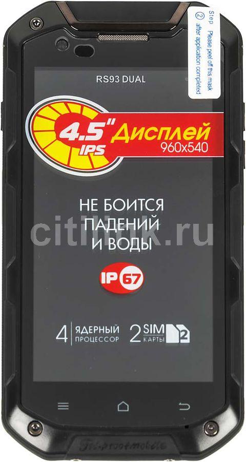 Смартфон Ginzzu RS93 DUAL 16Gb черный моноблок 2Sim 4.5