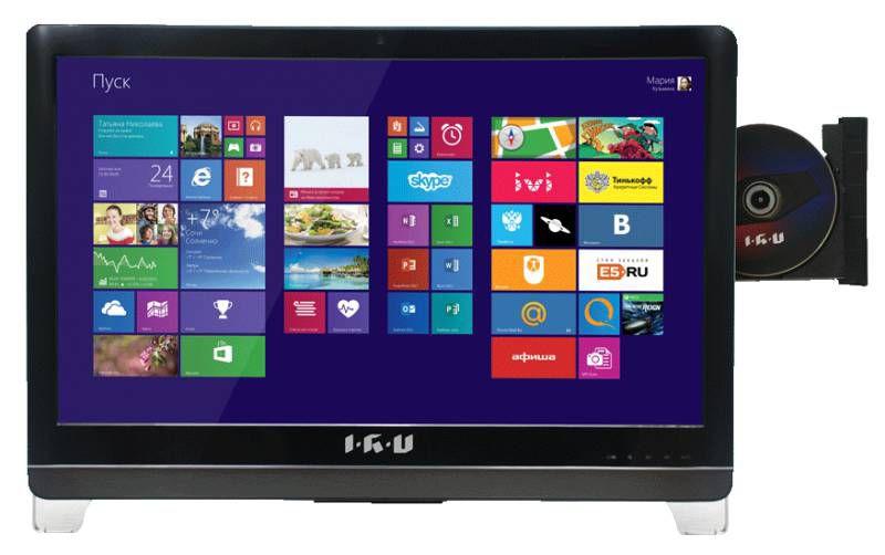 "Моноблок IRU Home T2304, 23.6"", Intel Core i3 4170, 4Гб, 1Тб, NVIDIA GeForce GT840M - 2048 Мб, DVD-RW, Free DOS, черный [299659]"