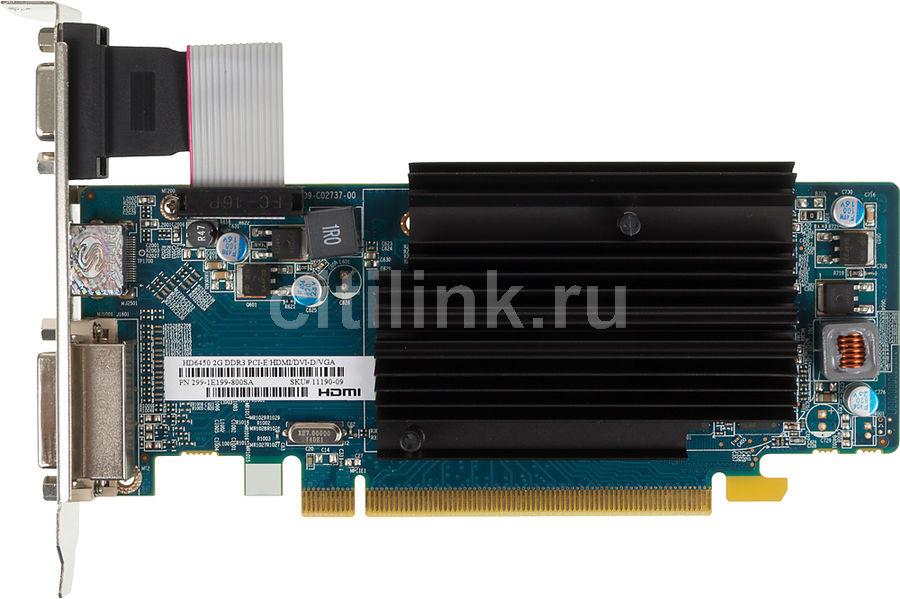 Видеокарта SAPPHIRE Radeon HD 6450,  11190-09-10G,  2Гб, DDR3, Low Profile,  oem