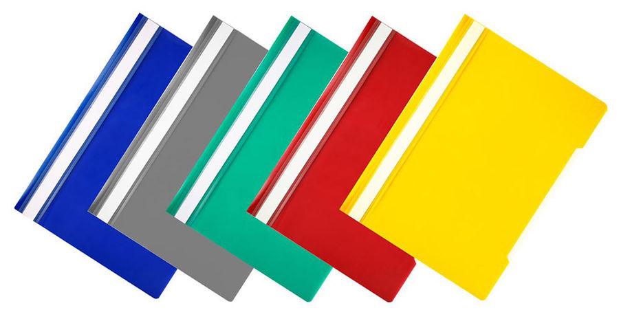 Папка-скоросшиватель Бюрократ Economy -PSE20/1 A4 прозрач.верх.лист пластик ассорти