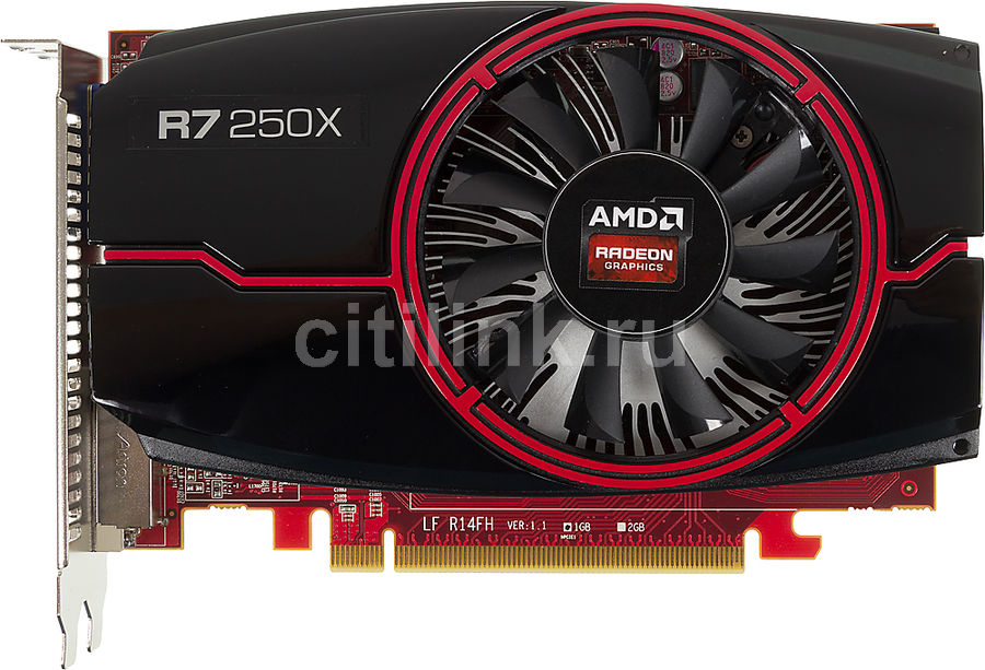 Видеокарта POWERCOLOR Radeon R7 250X,  AXR7 250X 1GBD5-HE,  1Гб, GDDR5, oem [axr7 250x 1gbd5-he bulk]