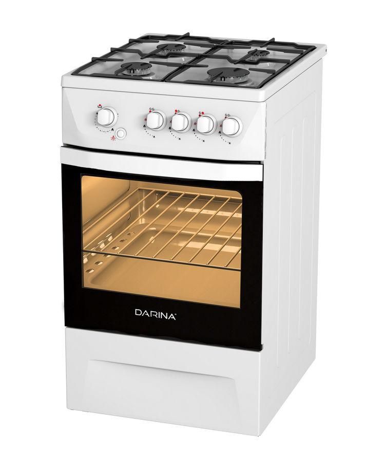 Газовая плита DARINA 1D GM241 014 W,  газовая духовка,  белый