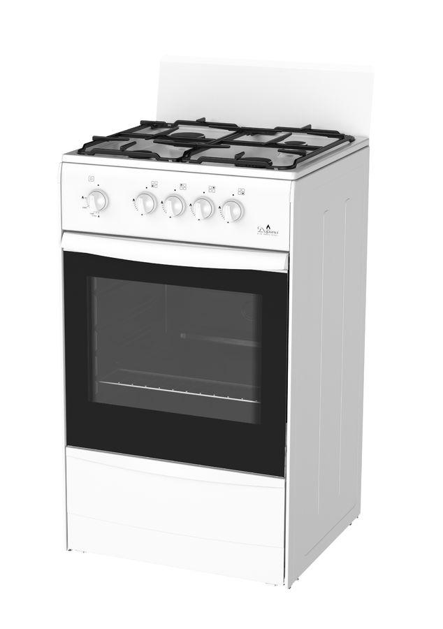 Газовая плита DARINA S GM441 002 W,  газовая духовка,  белый