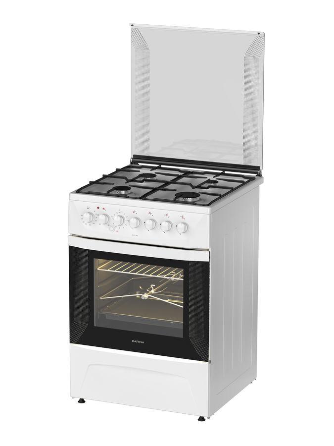 Газовая плита DARINA 1D КM 141 308 W,  электрическая духовка,  белый