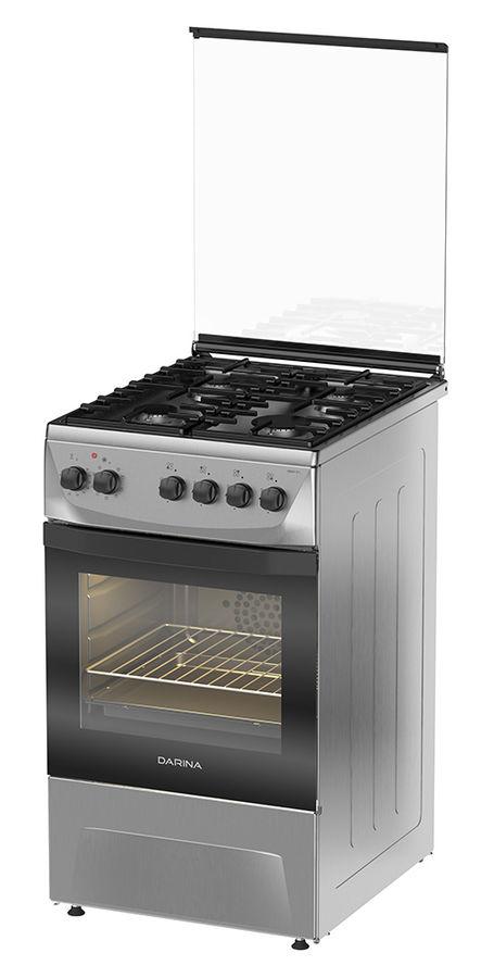 Газовая плита DARINA 1D1 KM 241 311 X,  электрическая духовка,  нержавеющая сталь