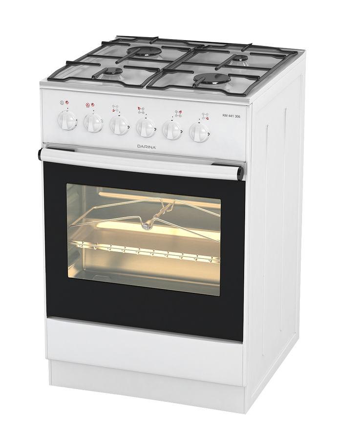 Газовая плита DARINA 1B КM 441 301 W,  электрическая духовка,  белый [691]