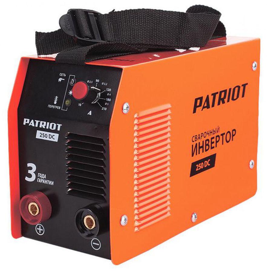 Сварочный аппарат инвертор PATRIOT 250DC MMA,  кейс [605302521]