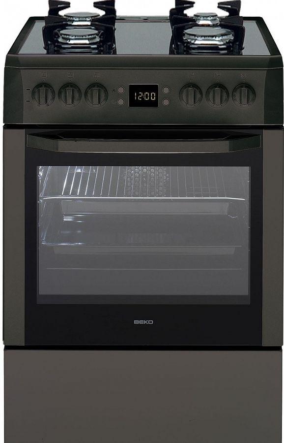 Газовая плита BEKO CSM 62321 DA,  электрическая духовка,  черный