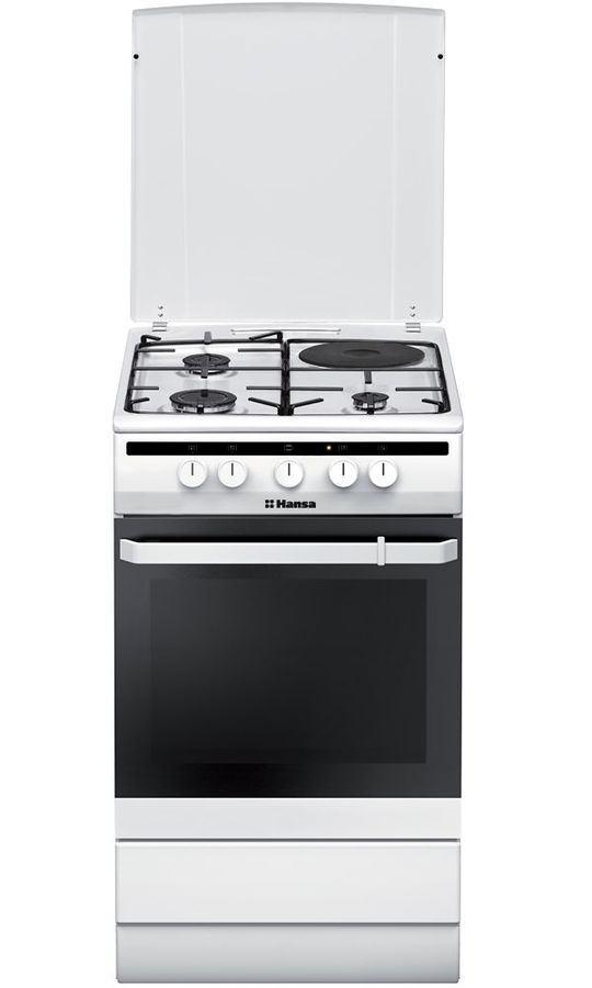 Газовая плита HANSA FCMW52001,  электрическая духовка,  белый