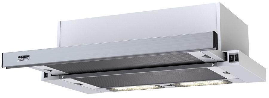 Вытяжка встраиваемая Krona Kamilla 600 нержавеющая сталь/белый управление: кнопочное (2 мотора)