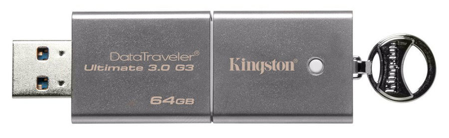 Флешка USB KINGSTON DataTraveler Ultimate 64Гб, USB3.0, серебристый [dtu30g3/64gb]