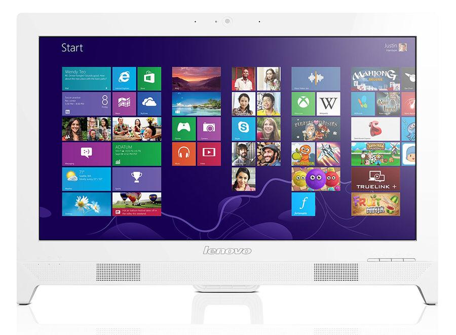 Моноблок LENOVO C260, Intel Pentium J2900, 4Гб, 500Гб, nVIDIA 800M - 1024 Мб, DVD-RW, Windows 8.1, белый [57331761]