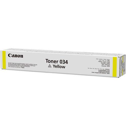 Тонер CANON 034,  для iR C1225iF,  желтый, туба