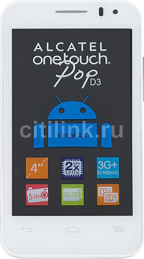 Смартфон ALCATEL Pop D3 4035D  белый/фиолетовый