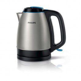 Чайник электрический PHILIPS HD9302, 2400Вт, серебристый и черный