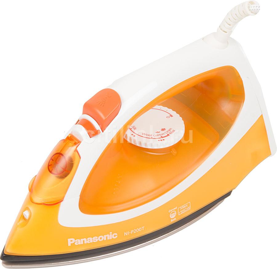 Утюг PANASONIC NI-P200TTTW,  1550Вт,  оранжевый/ белый