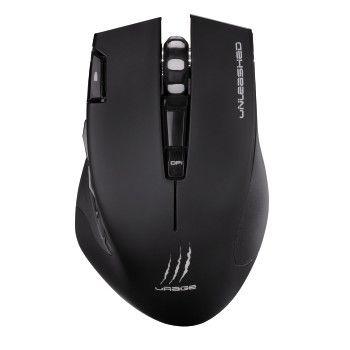 Мышь HAMA uRage Unleashed, игровая, оптическая, беспроводная, USB, черный [00113733]