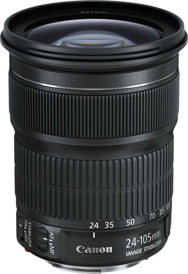 Объектив CANON 24-105mm f/3.5-5.6 EF IS STM, Canon EF [9521b005]Объективы для фотоаппаратов<br>байонет, тип: Canon EF,  c оптическим стабилизатором<br>