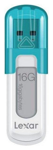 Флешка USB LEXAR JumpDrive V10 16Гб, USB2.0, голубой [ljdv10-16gabeu]