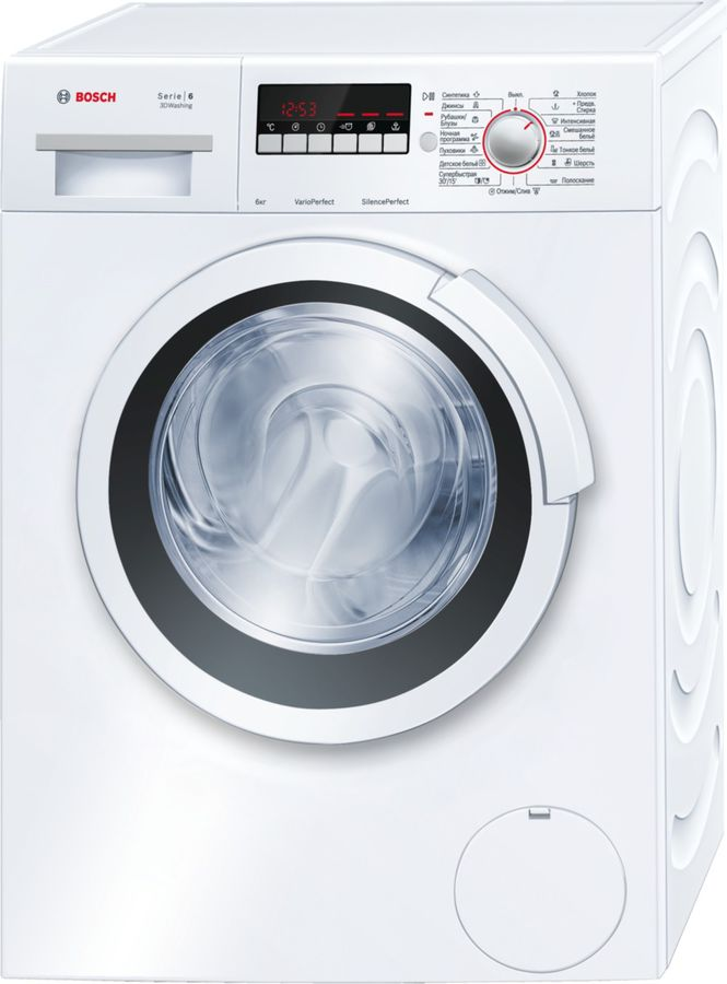 Стиральная машина BOSCH WLK24264OE, фронтальная загрузка,  белый