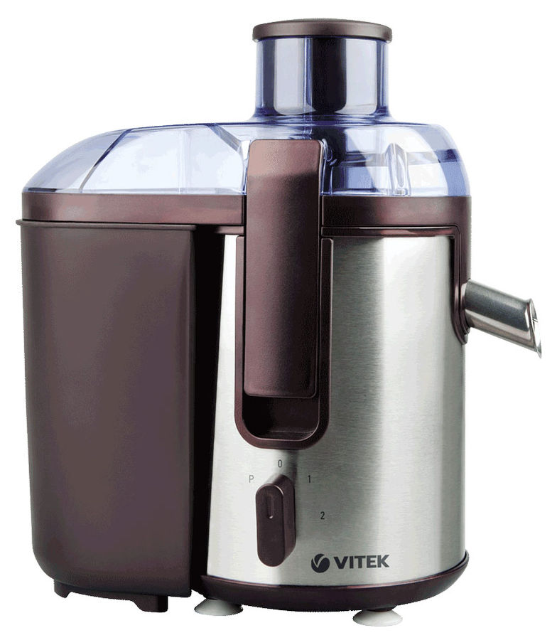Соковыжималка VITEK VT-3655,  центробежная,  бордовый и серебристый