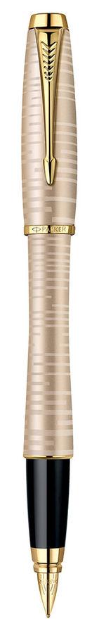 Ручка перьевая Parker Urban Premium F206 Vacumatic (1906852) Golden Pearl F сталь нержавеющая подар.