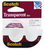 Клейкая лента канцелярская 3M Scotch Transparent 7100010900 прозрачная шир.12.7мм дл.7.6м на мини-ди