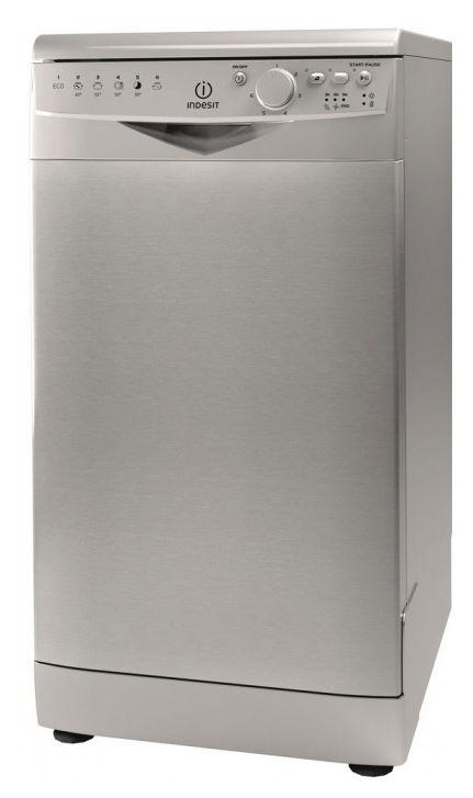 Посудомоечная машина INDESIT DSR 26B S RU,  узкая, серебристая