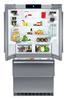 Холодильник LIEBHERR CBNes 6256,  трехкамерный, серебристый вид 3