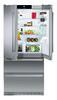 Холодильник LIEBHERR CBNes 6256,  трехкамерный, серебристый вид 4