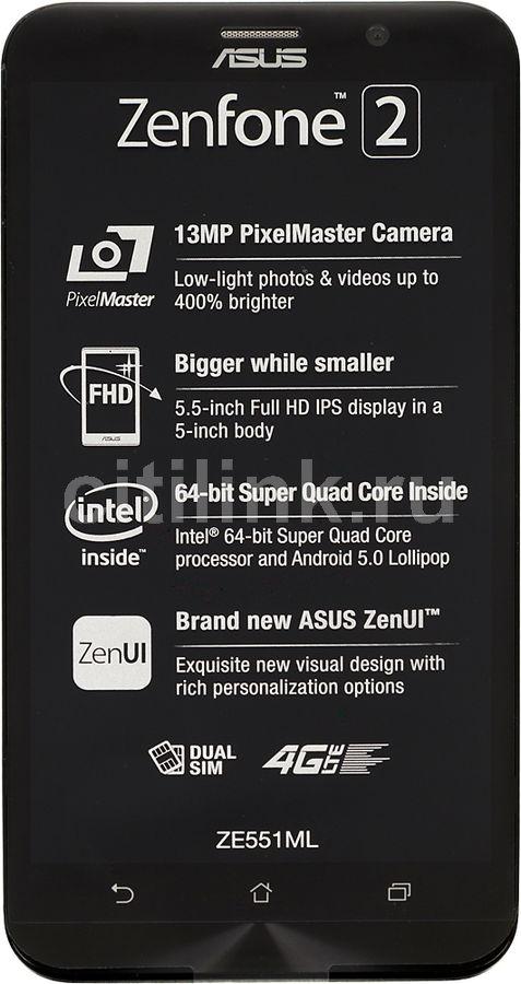 Смартфон ASUS Zenfone 2 ZE551ML  64Gb, серебристый