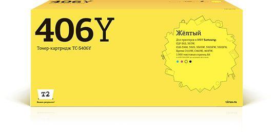 Картридж T2 TC-S406Y желтый