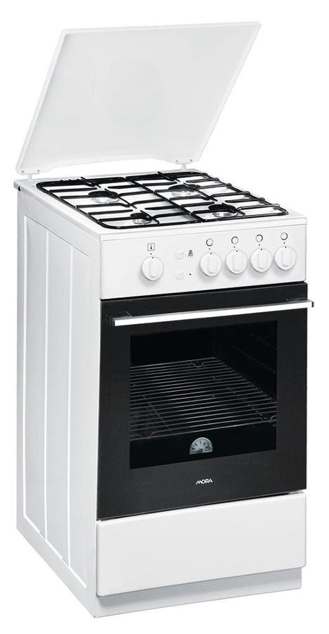 Газовая плита MORA PS113MW,  газовая духовка,  белый