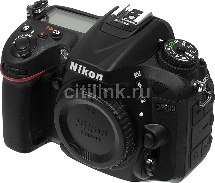 Зеркальный фотоаппарат NIKON D7200 body, черный new ccd cmos sensor with low pass filter for nikon d7200 camera replacement unit repair part