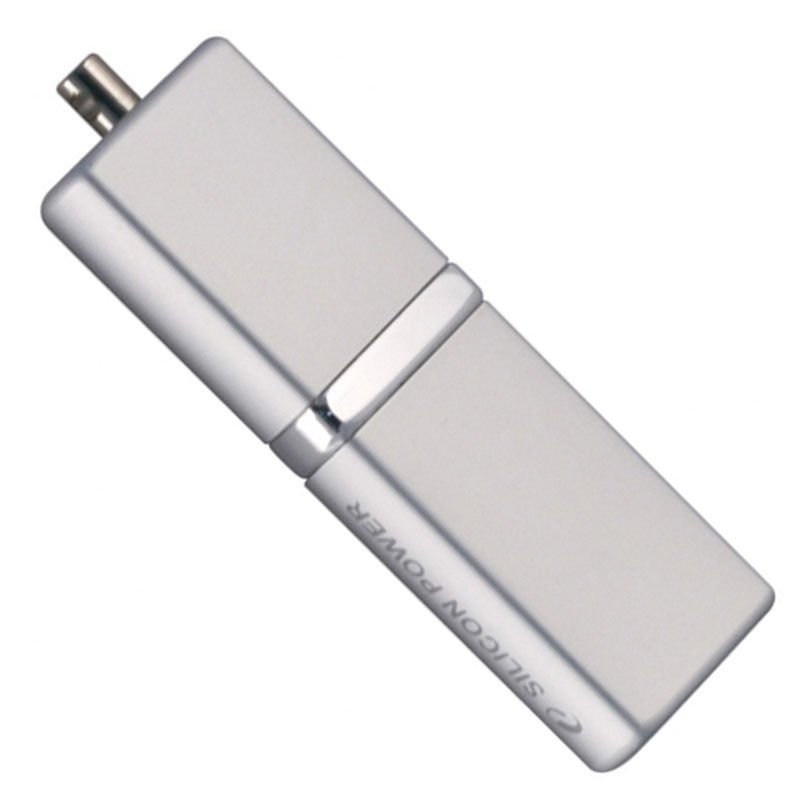 Флешка USB SILICON POWER LuxMini 710 64Гб, USB2.0, серебристый [sp064gbuf2710v1s]