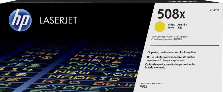 Картридж HP 508X CF362X,  желтый