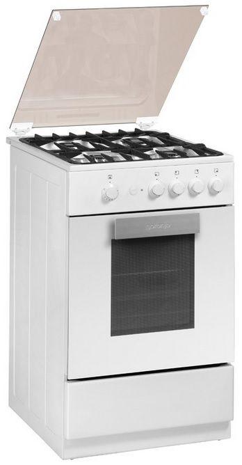 Газовая плита GORENJE GI512W,  газовая духовка,  белый