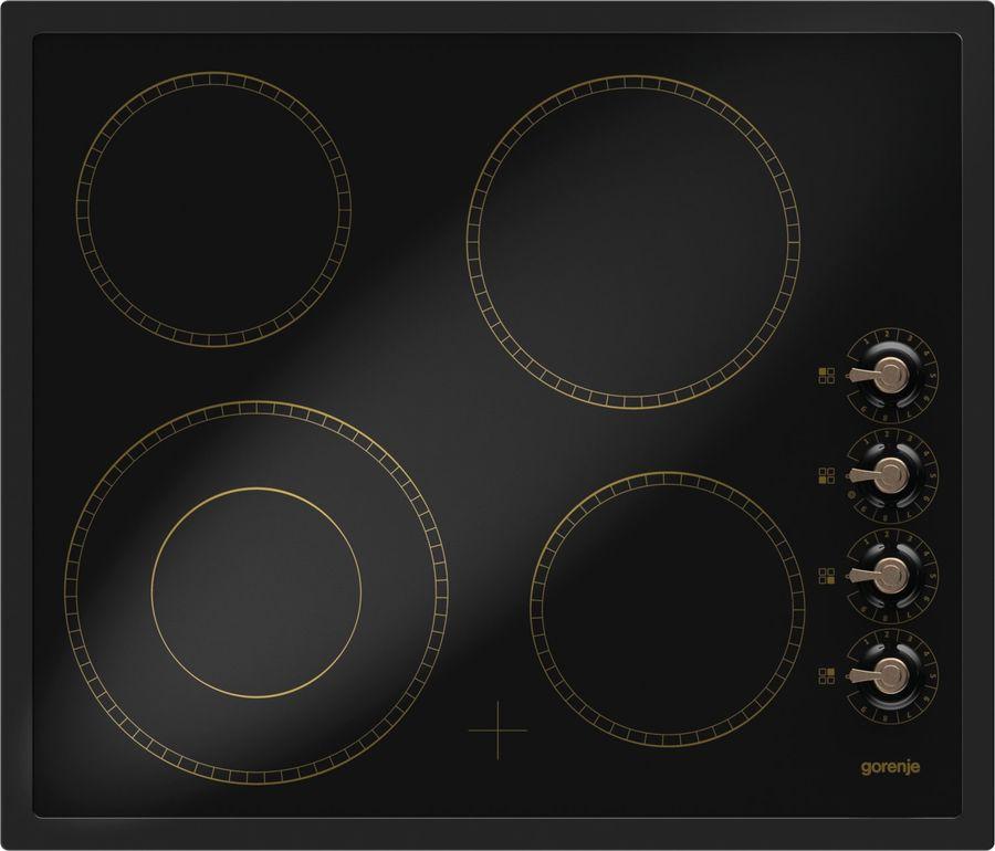 Варочная панель GORENJE Classico ECK63CLB,  Hi-Light,  независимая,  черный