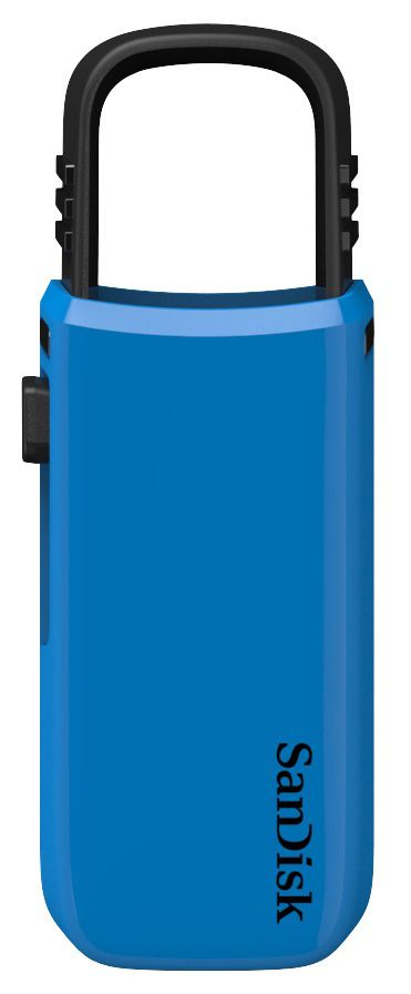 Флешка USB SANDISK Cruzer U 32Гб, USB2.0, синий и черный [sdcz59-032g-b35bz]