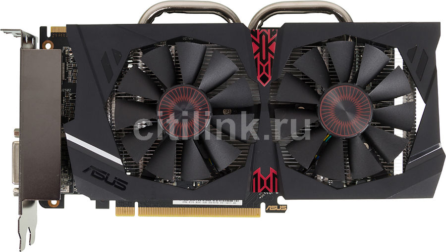 Видеокарта ASUS Radeon R7 370,  STRIX-R7370-DC2OC-2GD5-GAMING,  2Гб, GDDR5, OC,  Ret