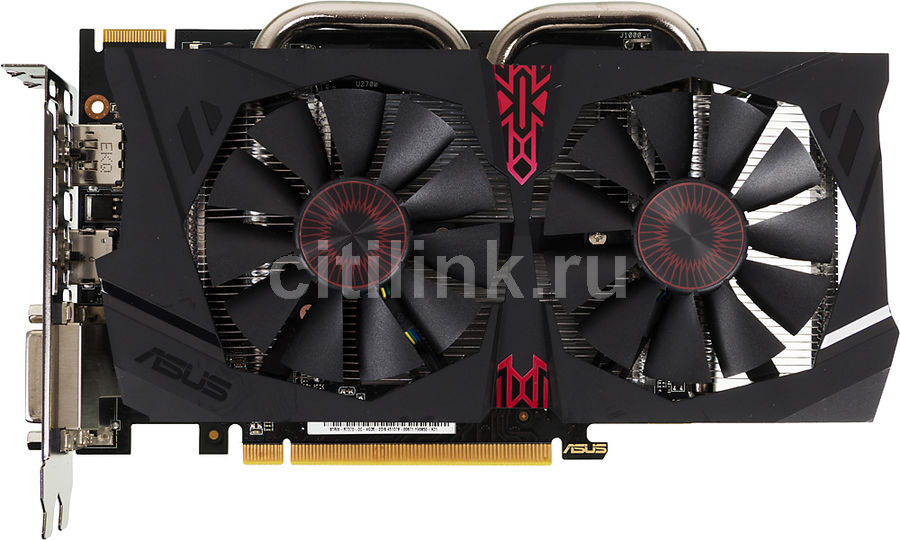 Видеокарта ASUS Radeon R7 370,  STRIX-R7370-DC2OC-4GD5-GAMING,  4Гб, GDDR5, OC,  Ret