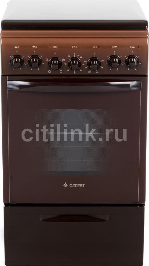 Электрическая плита GEFEST ЭП Н Д 5140-02 0038,  эмаль,  коричневый