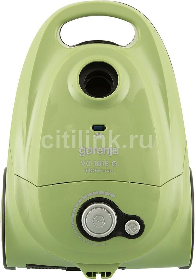 Пылесос GORENJE VC1615G, 1600Вт, зеленый