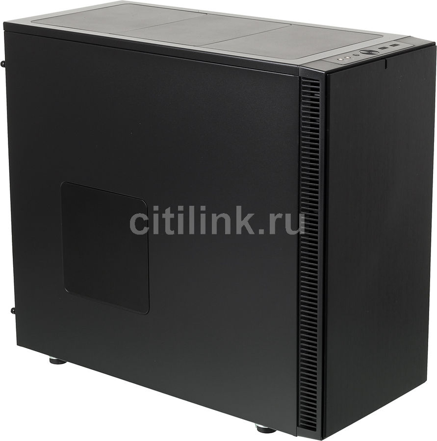 Корпус ATX FRACTAL DESIGN Define S, Midi-Tower, без БП, черный корпус matx fractal design define mini c tg mini tower без бп черный