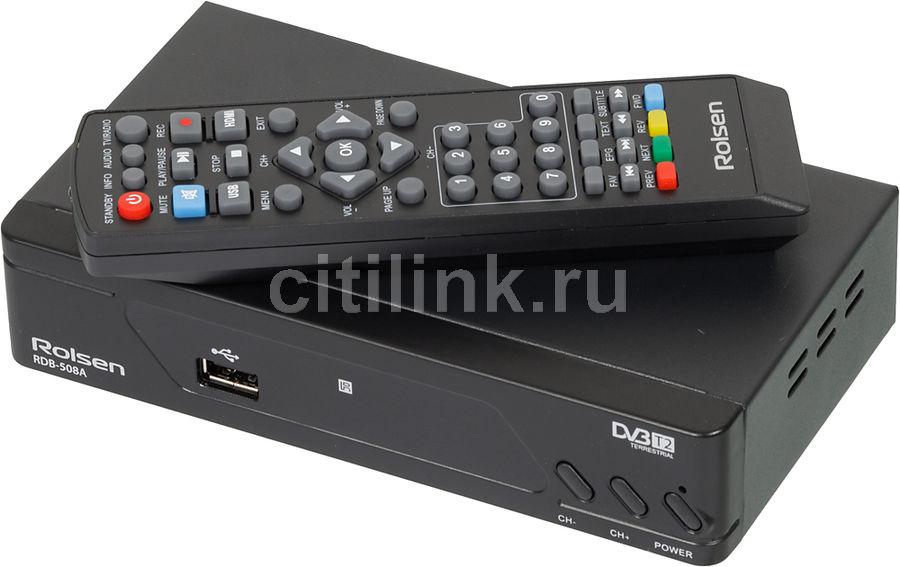 Ресивер DVB-T2 ROLSEN RDB-508A,  черный [1-rldb-rdb-508a]