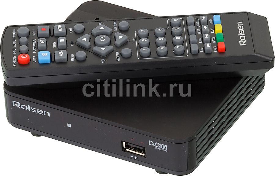 Ресивер DVB-T2 ROLSEN RDB-524A,  черный [1-rldb-rdb-524a]