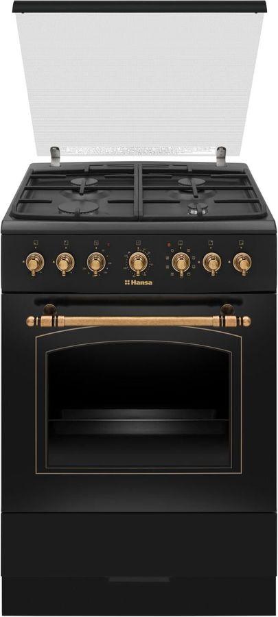 Газовая плита HANSA FCMA68109,  электрическая духовка,  черный