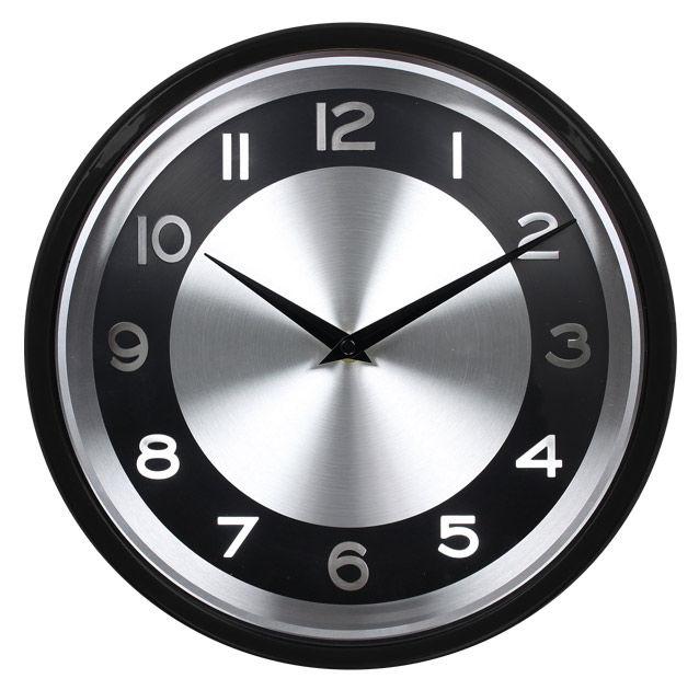 Настенные часы БЮРОКРАТ WallC-R24P, аналоговые,  черный