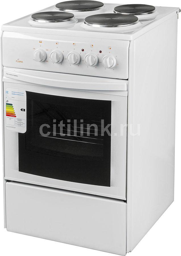 Электрическая плита FLAMA AE 1406 W,  эмаль,  белый
