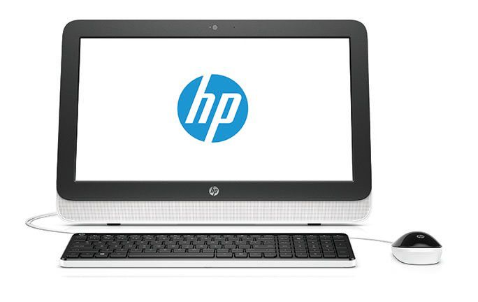 Моноблок HP 20-r001ur, AMD E1 6015, 4Гб, 500Гб, AMD Radeon R2, DVD-RW, Windows 8.1, белый и черный [m9l01ea]